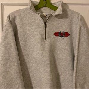 Vintage Jerzees 1/4 Zip Graphic Sweatshirt Sz M